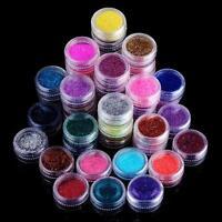 45color NAIL ART GLITTER magico specchio effetto cromato POLVERE SCINTILLANTE