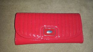 GRACE ADELE QUILTED ENVELOPE WALLET - Scarlet/Red - NEW