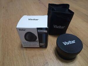 NEW Vivitar 2.2x Tele converter lense. EOS EF Canon fit