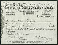 Canada: Grand Trunk Railway Co. of Canada, Consolidated stock, 1910-1920