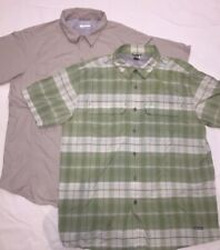 Mens XL Button Down Shirts Lot Of 2 North Face Columbia Omni-shade Vapor Wick
