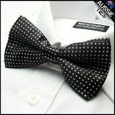 Black with White Polkadots Boy's Bow Tie Kids Junior