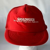 Vintage Grainger Mesh Snapback Hat Baseball Trucker PROP Father's Day GIFT