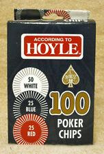 CARTON OF 6 HOYLE POKER CHIPS - 100 / BOX  NEW     ZHOY-1035