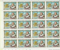 Leaders Kings+Queens James l  Mint Never Hinged Stamps Part Sheet Ref 28288