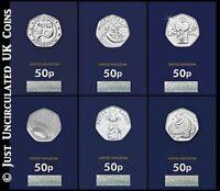 2019 Fifty Pence Coins - BU Snowman Gruffalo Peter Rabbit Stephen Hawking 50p