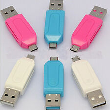 Best OTG USB Micro SD Memory Card Reader for Tablet PC Cellphone Android 2 in 1