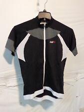 Louis Garneau Women's Icefit Cycling Jersey Medium Black/Grey/White Retail $85