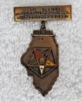 RARE 1930 MASONIC MEDAL GRAND CHAPTER O.E.S. CHICAGO IL ENAMEL BRASS S D CHILDS