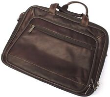 Kenneth Cole Reaction Mens Business Zip Laptop Leather Case Briefcase Bag Black