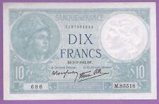 (Ref:M.85) 10 FRANCS MINERVE 5/03/1942 RARISSIME  (SPL+)