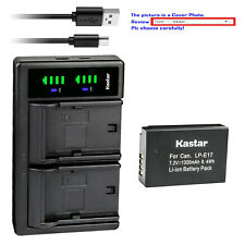 Kastar Battery LTD2 USB Charger for LPE17 Canon EOS RP Mirrorless Digital Camera