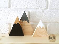 Handmade wooden mountains/ triangle