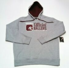 Mens And1 Hoodie XL Spellout Big Logo Pullover Hooded Sweatshirt Gray Maroon