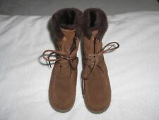 Women's Cougar Cricket Lace Up Boots Suede Brown Size 7M