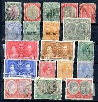 BRITISH ST. KITTS - NEVIS, 19 DIFFERENT STAMPS LOT, VF