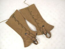 pre-WWII Era USMC Marine Corps Style Canvas Leggins or Gaiters Dated 1934 - RARE