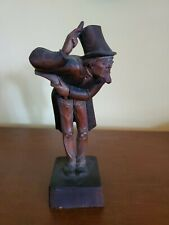 Vintage Anri Italy Wood Carved Man With Glasses and Tophat Dickens? As Found