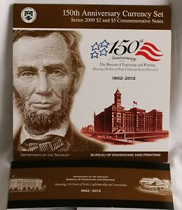 BEP Gettysburg Civil War 150th Anniversary Currency Two Note Set US Mint Set
