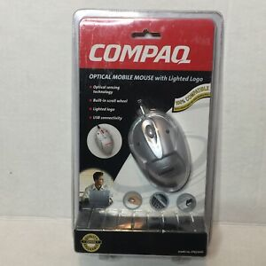 Compaq Optical Mobile Mouse Lighted Logo USB Model #CPQ150iD New