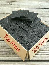 (29,25€/m²) Terrassenpads 200St. 100x100x10 mm Gummigranulat Pad Abstandshalter
