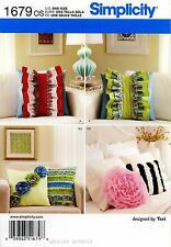 Simplicity Sewing Pattern 1679 Decorative Pillows square round flowers ruffles