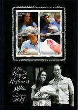 The Gambia  2013 MNH Birth Prince George Royal Baby 4v M/S William Kate