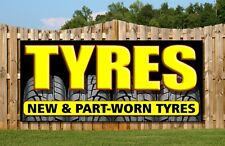 tyres PVC OUTDOOR BANNER GARAGE tyre fitting shop sign