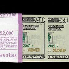 AMAZING $2000 UNC NEW $20 STAR NOTE BEP PACK Twenty Dollar FRN F03492001*-2100*