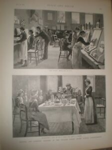 Artistic and Domestic training William Street School Hammersmith 1892 prints AU