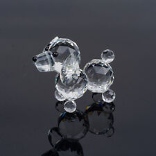 Crystal Poodle Dog Figurine Paperweight Wedding Collectible Favor Gift Decor