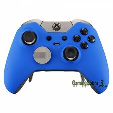 Front Shell Faceplate Cover for Xbox One Elite Controller Soft Touch Blue Design
