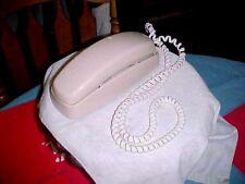1988 AT&T TRIMLINE PHONE CS2001A Touch-tone Beige Cream Vtg Wall Desk TELEPHONE