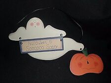 Primitive Country GHOST PUMPKIN Farmhouse Wood Fall Halloween is Sooo Scary Sign