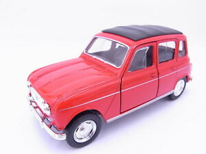 85041 WELLY Renault 4 R4 Limousine 1961 Rouge 1:3 0 Maquette de Voiture Neuf