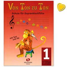 Von Ton zu Ton Band 1 - Schule für Sopranblockflöte - VHR3605 - 9783920470160