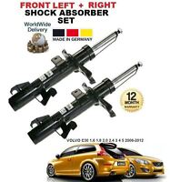 FOR VOLVO C30 1.6 1.8 2.0 2.4 D4 D5 2006-> 2X FRONT LEFT + RIGHT SHOCK ABSORBER