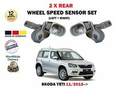 FOR SKODA YETI 11/2013--> NEW 2 X REAR LEFT + RIGHT WHEEL SPEED SENSOR