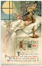 Winsch Halloween Schumucker Young Sleeping Lady with Fairies