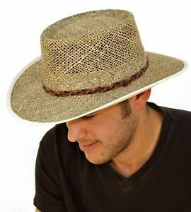 Country Classics Greg Norman Seagrass Straw Hat Ventilated Wide Brim One Size