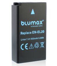 Blumax Li-Ion Batería Para Nikon EN-EL20 EN-EL20A 7.4V 1000mAh, de alta calidad