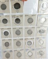 .RARE JOB LOT NICE GRADE 19 x 1874 & 1875 GERMAN SILVER 1 MARK.
