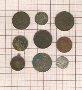 Paket Bis Arbeitszimmer! 9 Pièces-jetons-médailles, Billon + Bronze Altes Alle