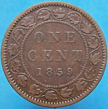1859 Haxby 207 Canada Canadian Queen Victoria Large Cent