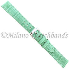 14mm Speidel Mint Green Alligator Grain Stitched Padded Ladies Watch Band 1006