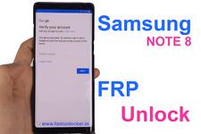 Remote Google Account/FRP Lock Remove on Samsung galaxy note 8 galaxy s8 plus S8