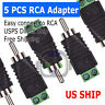 5 pcs Speaker Wire cable to Audio Male RCA Connector Adapter Jack Plug Bose M247
