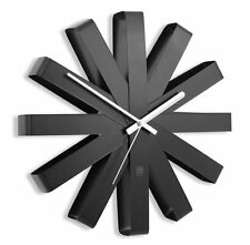 Umbra RIBBON WALL CLOCK BLACK 30cm in diam