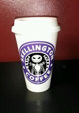Nightmare Before Christmas Skellington Coffee plastic Travel Mug -Purple & Black