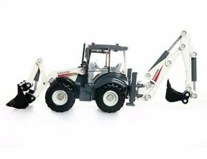 Alloy Excavator Forklift Bulldozer 1:50 Two-way Back Hoe Loader Tracktor Toy New